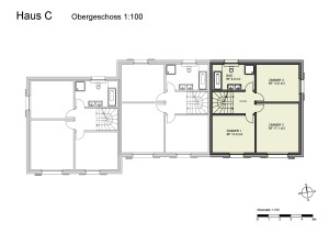Haus C Obergeschoss 1-100